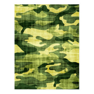 Grungy Camouflage Postcard