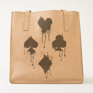 Grungy Card Suits Tote