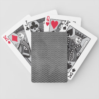 Grungy Chevron Bicycle Playing Cards