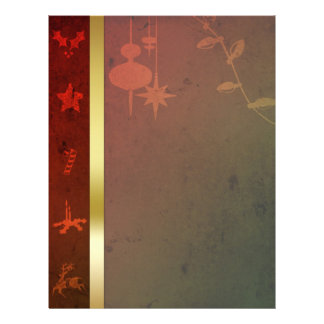 Grungy Christmas - Letterhead Stationery