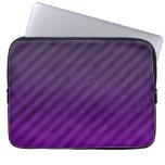 Grungy Dark Purple Stripes Computer Sleeves