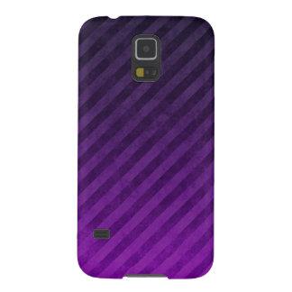 Grungy Dark Purple Stripes Galaxy S5 Case