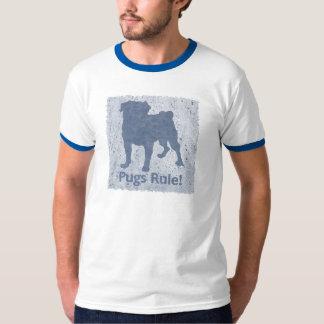 Grungy Denim Pug T-Shirt