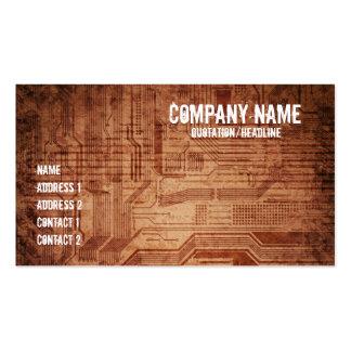 grungy design business card