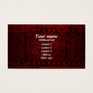 grungy design business card