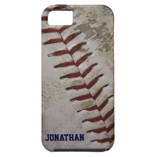 Grungy Dirty Baseball Personalized iPhone 5 Case