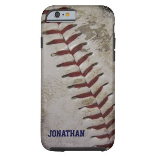 Grungy Dirty Baseball Personalized iPhone 6 case