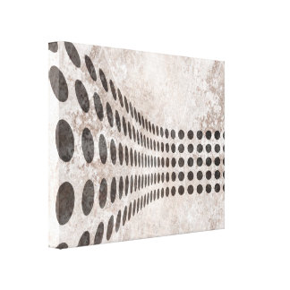 Grungy Dots Design Gallery Wrapped Canvas