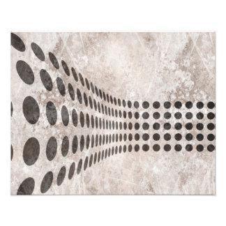 Grungy Dots Design Photo Print