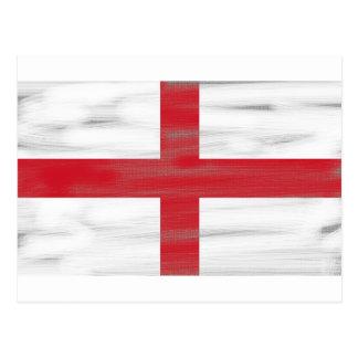Grungy England Flag Postcard