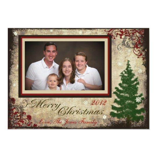 Grungy Family Photo Christmas Card