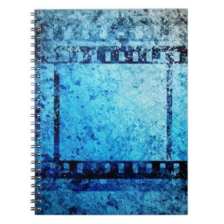 grungy filmstrip notebooks
