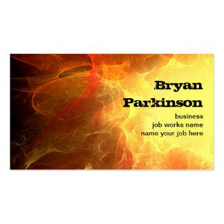 grungy fire business card