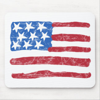 Grungy Flag Mouse Pad
