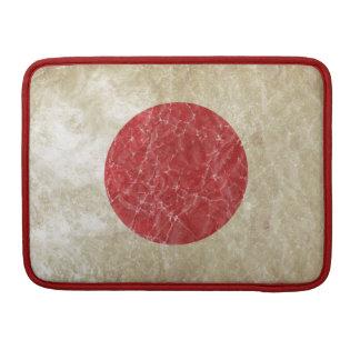 Grungy Flag of Japan Sleeve For MacBooks