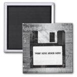 grungy floppy magnet