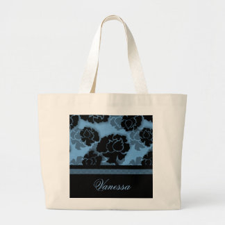 Grungy Floral Decadence Bag, Blue
