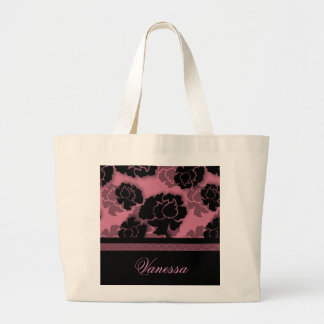Grungy Floral Decadence Bag, Pink