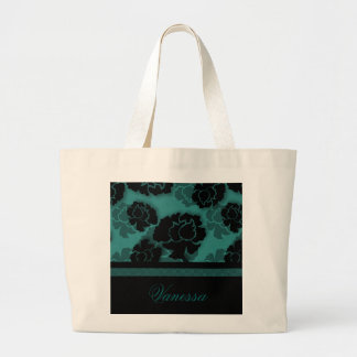 Grungy Floral Decadence Bag, Teal