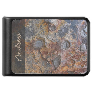 Grungy Geology Rusty Rock Structure any Text Power Bank