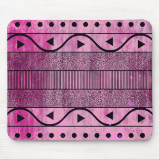Grungy Geometric Aztec Pattern Mousepad