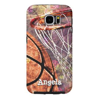 Grungy Girls' Basketball Samsung Galaxy S6 Case