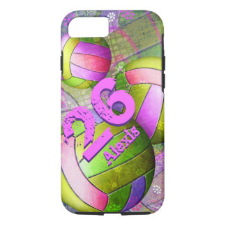 Grungy Girls' Volleyball iPhone 7 Case
