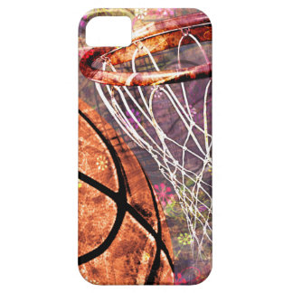 Grungy Girly Basketball iPhone 5 Cover