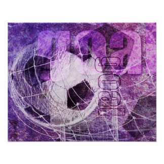 Grungy Girly Soccer Print