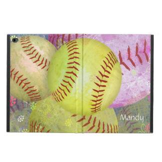 Grungy Girly Softball Powis iPad Air 2 Case