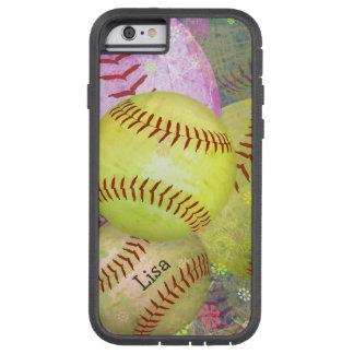 Grungy Girly Softball Tough Xtreme iPhone 6 Case