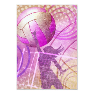Grungy Girly Volleyball Card