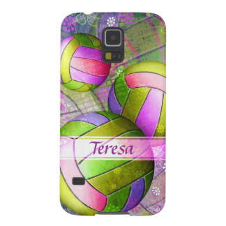 Grungy Girly Volleyball Galaxy S5 Cover