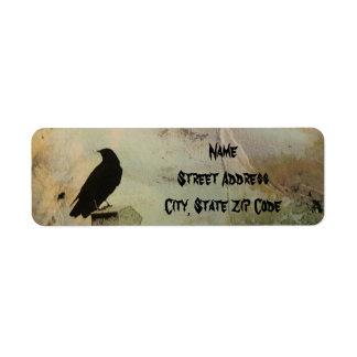 Grungy Goth Return Address Label