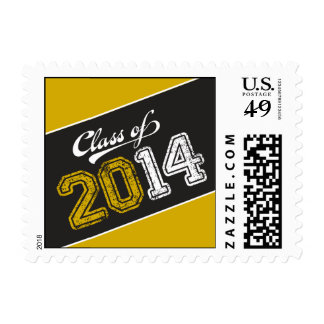 Grungy Graduate Graduation Postage Stamp Stamps