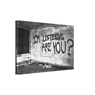 Grungy Grafitti- Stretched Canvas Print