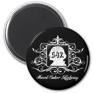 Grungy Graphic Hwy 542 2 Inch Round Magnet
