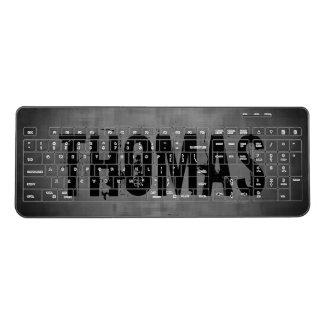 Grungy gray black wireless keyboard