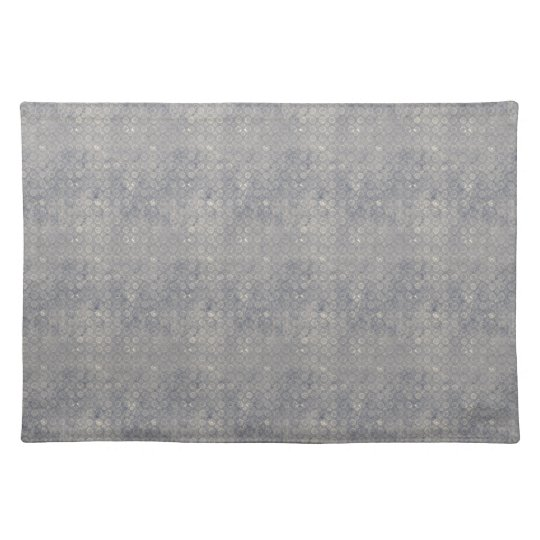 Grungy Gray Blue Circles Placemat