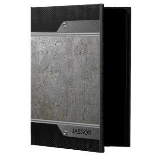 Grungy Gray Metal & Black Carbon Fiber Powis iPad Air 2 Case