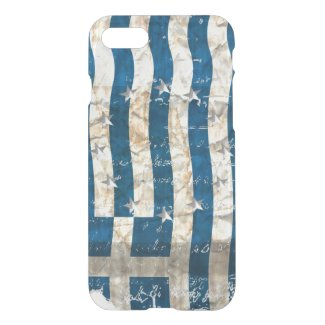Grungy Greek flag