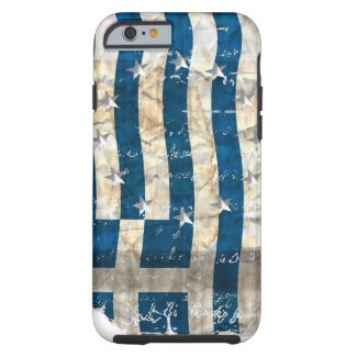 Grungy Greek flag ...