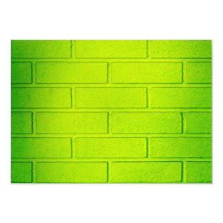 Grungy Green Brick Wall Card