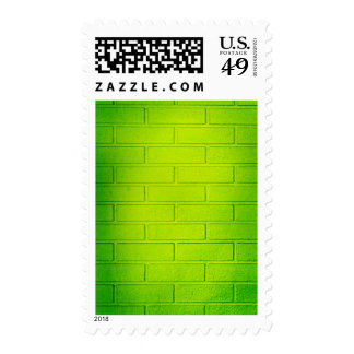 Grungy Green Brick Wall Stamps
