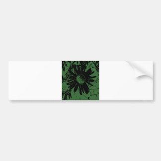 Grungy Green Daisy Bumper Sticker