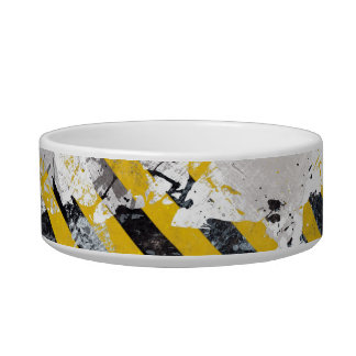 Grungy Hazard Stripes Bowl