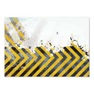 Grungy Hazard Stripes Card
