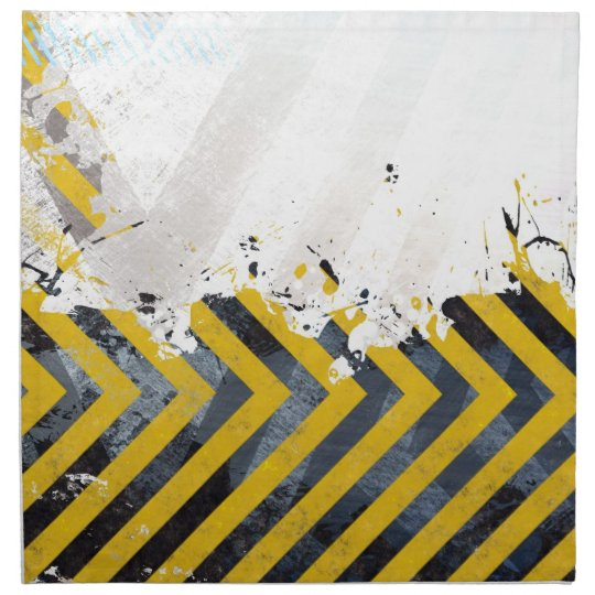 Grungy Hazard Stripes Napkin