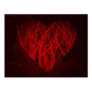 grungy heart postcard