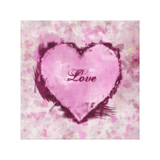 Grungy Hearts Canvas Print